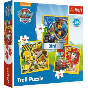 TREFL PUZZLE 3w1  PSI PATROL MARSHALL RUBBL CHASE 34839